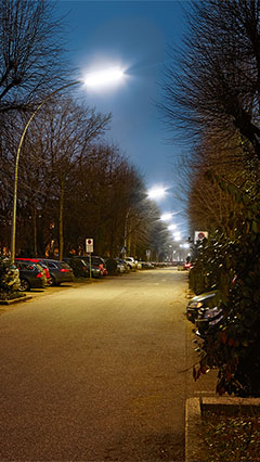 Illumination by Philips Lighting creating a safe atmospehere for the parking lots of Asklepios Clinic St. George