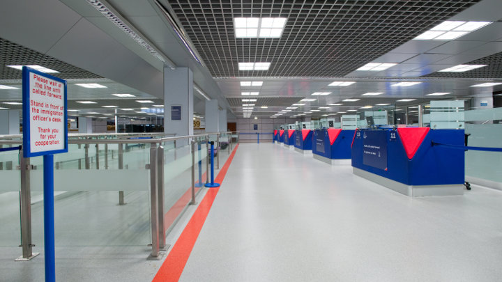 Philips Lighting illuminates the Manchester Airport Terminal 2