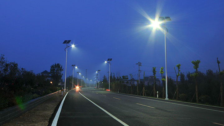 Solar powered street lighting - solar lights