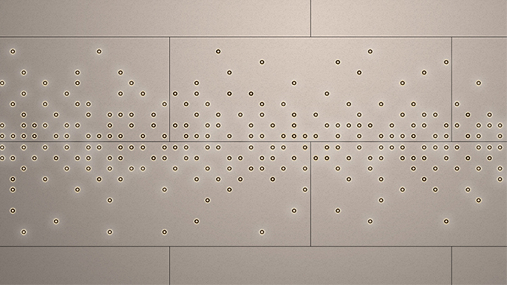 Philips Lighting's Luminous pattern in Sparkling horizon makes a statement in any interior lighting design